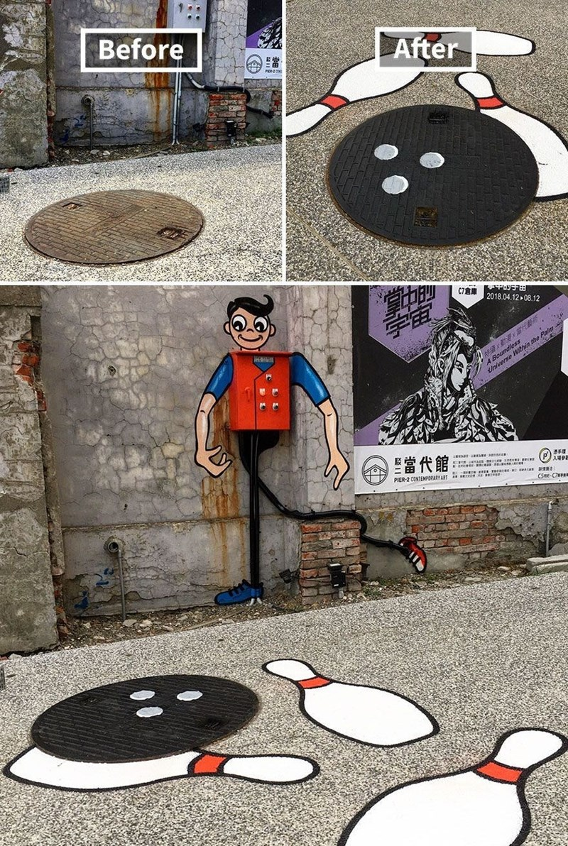 graffiti - Cartoon - Before After C7 2018.04.12 08.12 x Boundies iniverse Wiin the 當代館 CSme C7 ::
