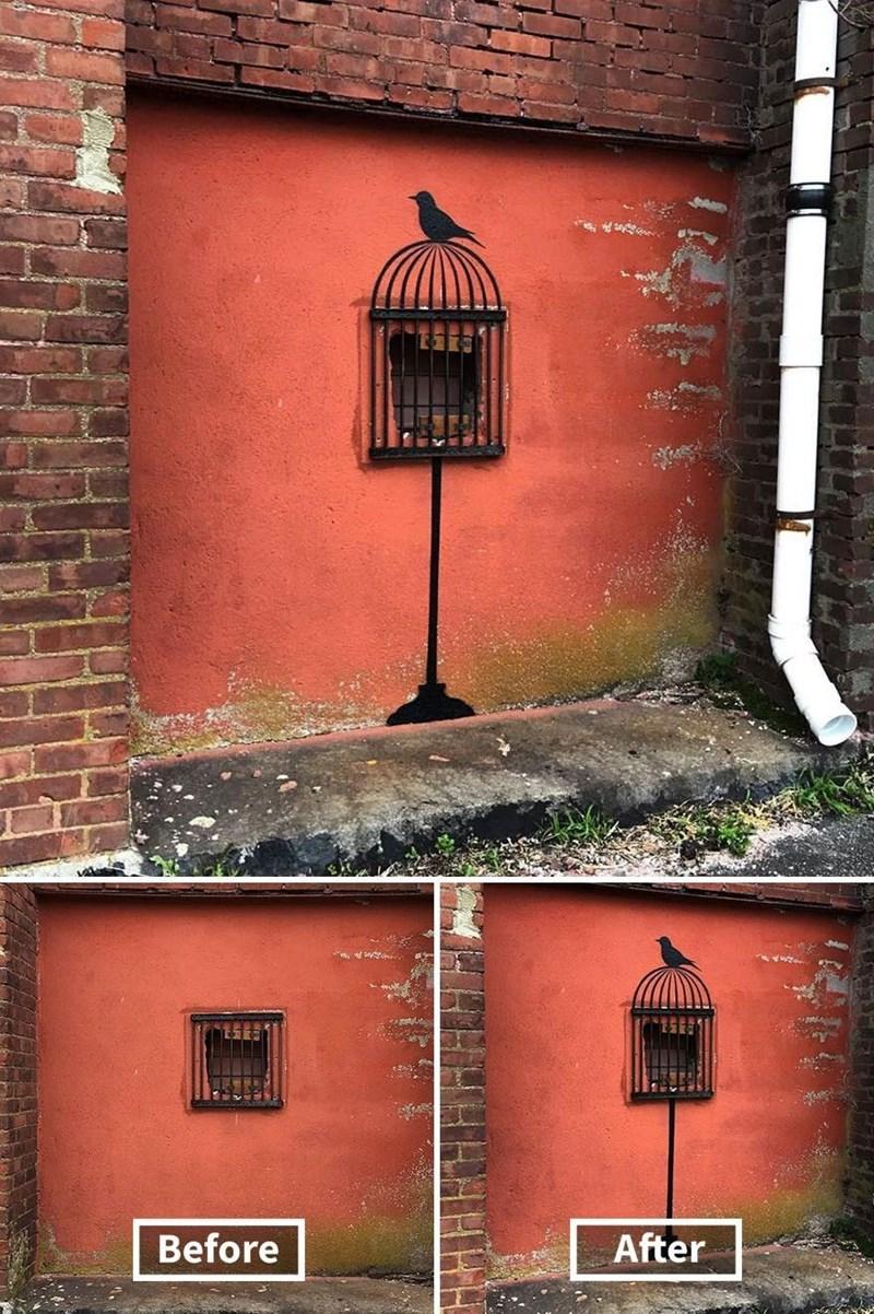 graffiti - Brick - After Before