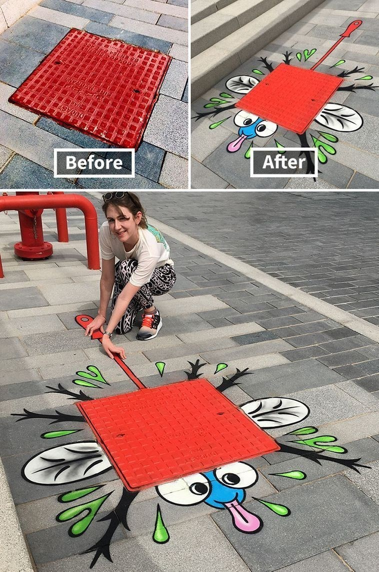 graffiti - Public space - Before After
