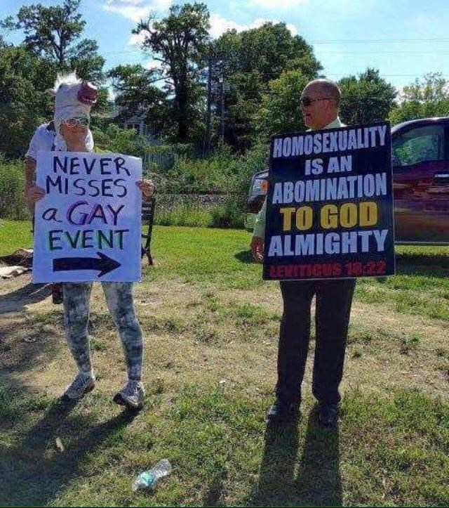 joke - Protest - HOMOSEXUALITY IS AN NEVER MISSES a GAY EVENT ABOMINATION TO GOD ALMIGHTY LEWITICUS 18:22