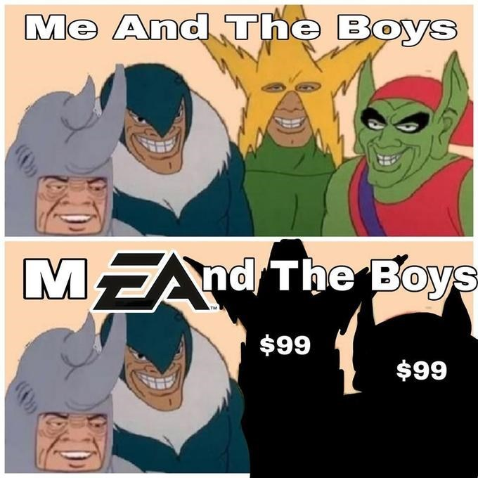 Funny 'Me and the Boys' meme - EA Games