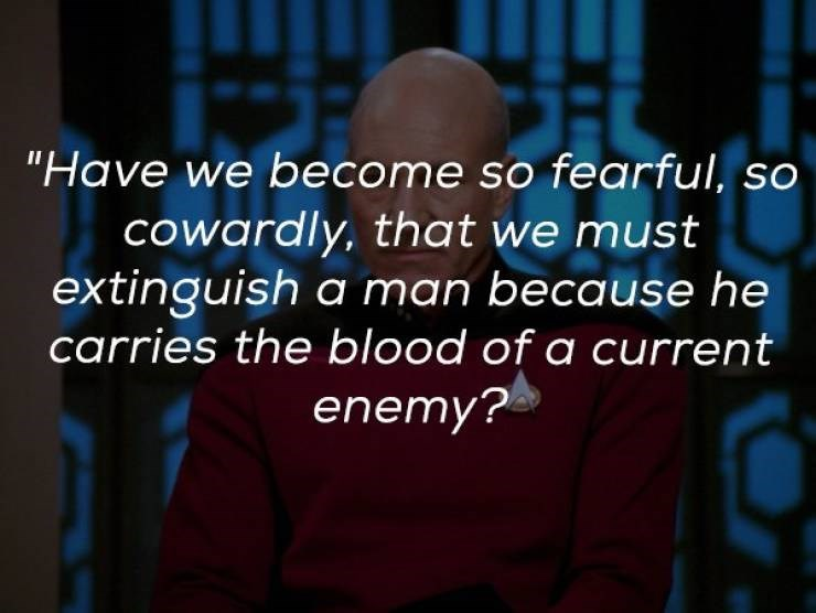 "Font - ""Have we become so fearful, so cowardly, that we must extinguish a man because he carries the blood of a current enemy?"