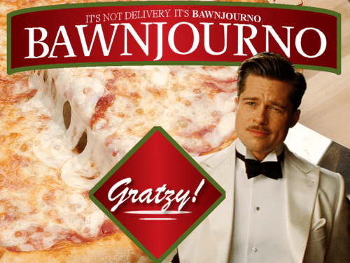 Funny random meme featuring Brad Pitt