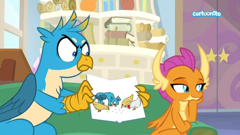 screencap smolder horses please gallus student counsel - 9316983040