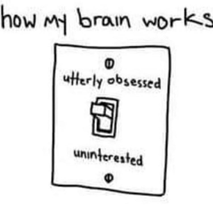 sad spicy memes - Text - how My brain works utterly obsessed uninterested