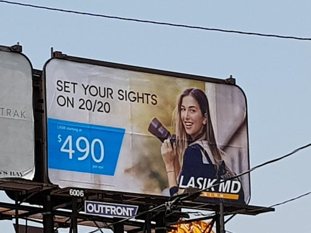 Billboard - SET YOUR SIGHTS ON 20/20 TRAK $490 LASIK MD 6006 JOUTFRONT