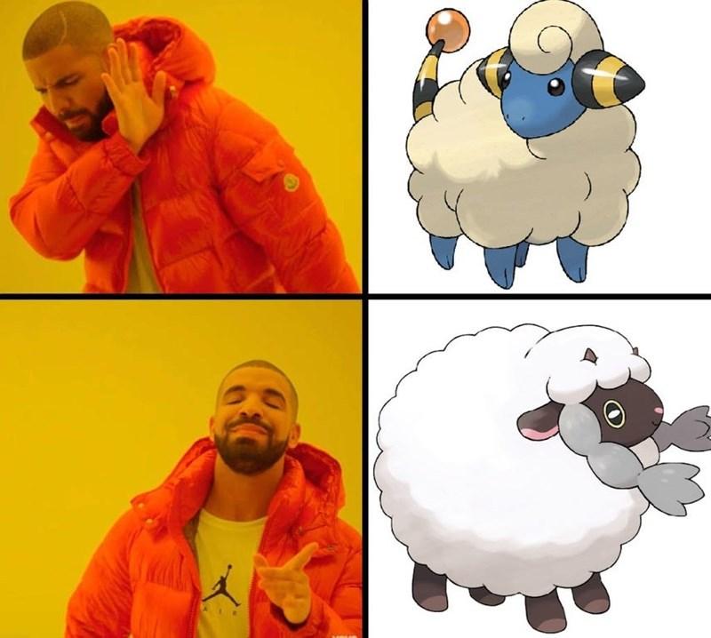 Funny Wooloo meme - Drakeposting