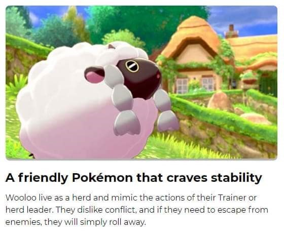 Funny Wooloo meme introducing him
