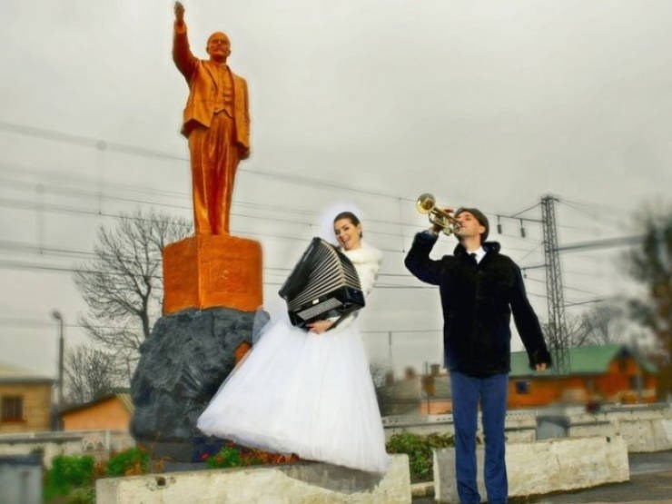 russian cringe wedding photos - Photograph