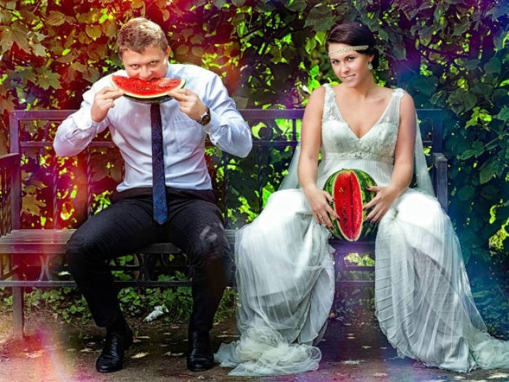 russian cringe wedding photos - Fun