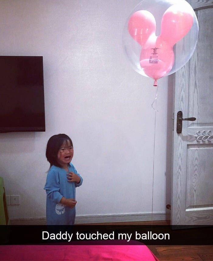 kid tantrums - Balloon - Daddy touched my balloon HS