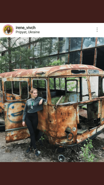 Tweet about influencers taking pictures at Chernobyl site, Twitter