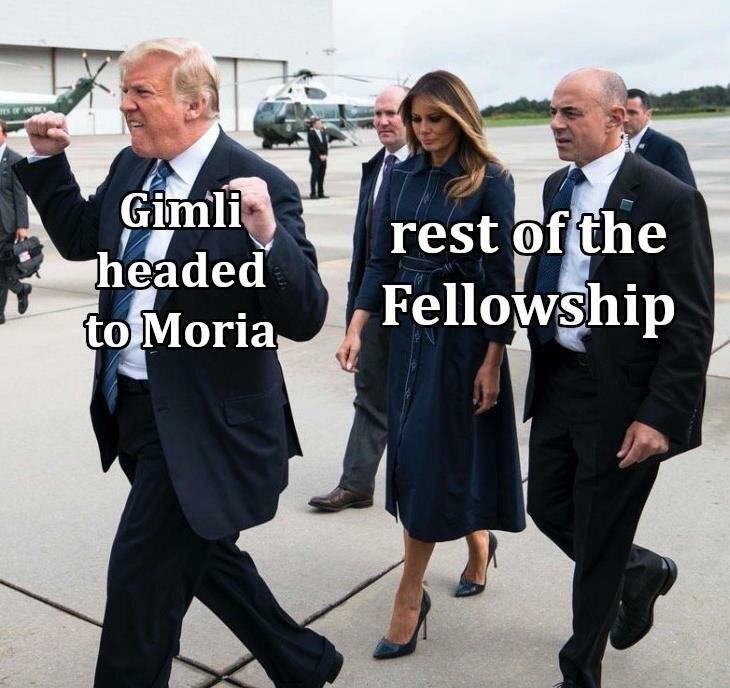Uniform - na e Gimli headed to Moria, rest of the Fellowship