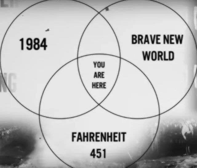 memes - Text - BRAVE NEW 1984 WORLD YOU ARE PKG HERE FAHRENHEIT 451 로볼뿐