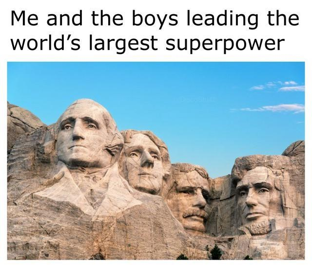 Landmark - Me and the boys leading the world's largest superpower 1