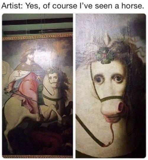 Face - Artist: Yes, of course I've seen a horse.