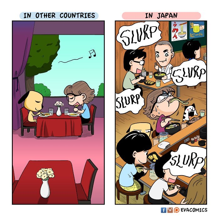 Cartoon - IN OTHER COUNTRIES IN JAPAN URP StURP SLURP fFom EVACOMICS