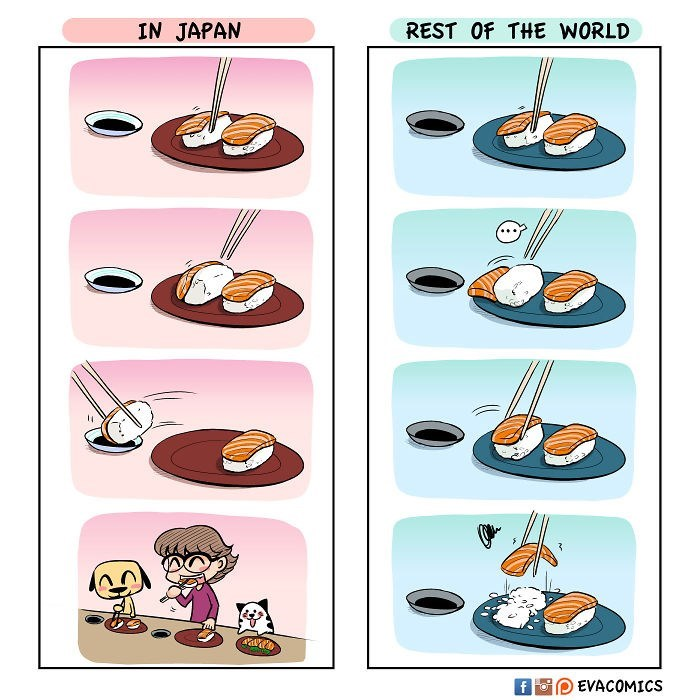 Cartoon - IN JAPAN REST Of THE WORLD 3 EVACOMICS f Fo