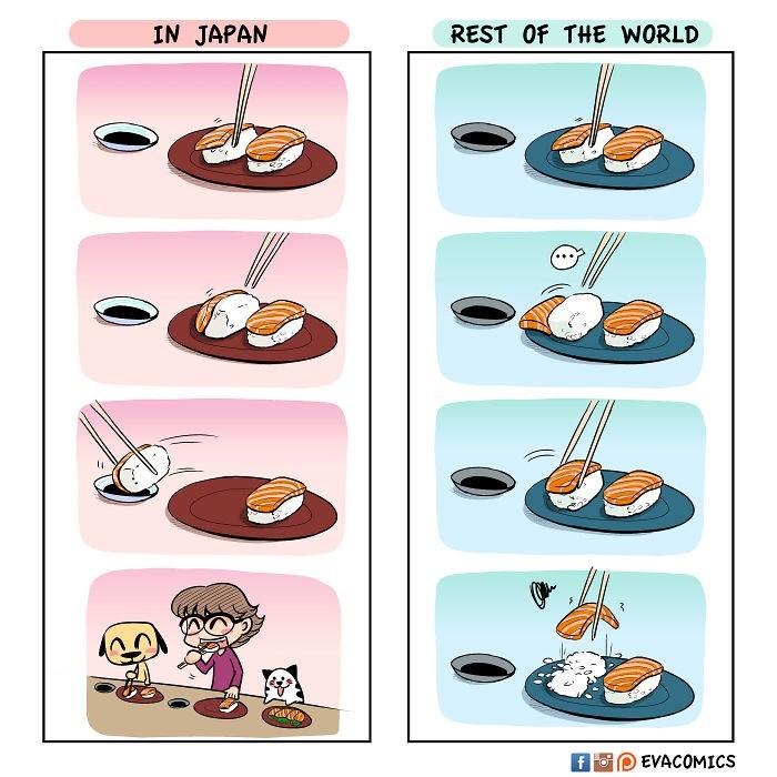 Cartoon - IN JAPAN REST Of THE WORLD 3 EVACOMICS f Fo