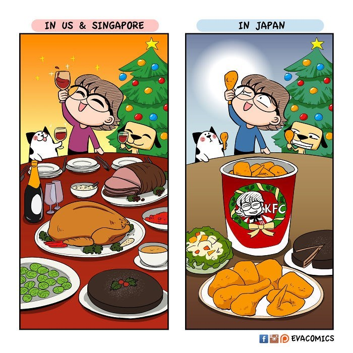Cartoon - IN US & SINGAPORE IN JAPAN KFC EVACOMICS f Fo