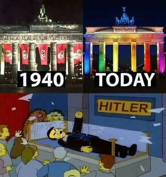 dank history memes - Cartoon - TODAY 1940 HITLER