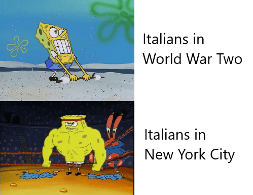 dank history memes - Line - Italians in World War Two Italians in New York City