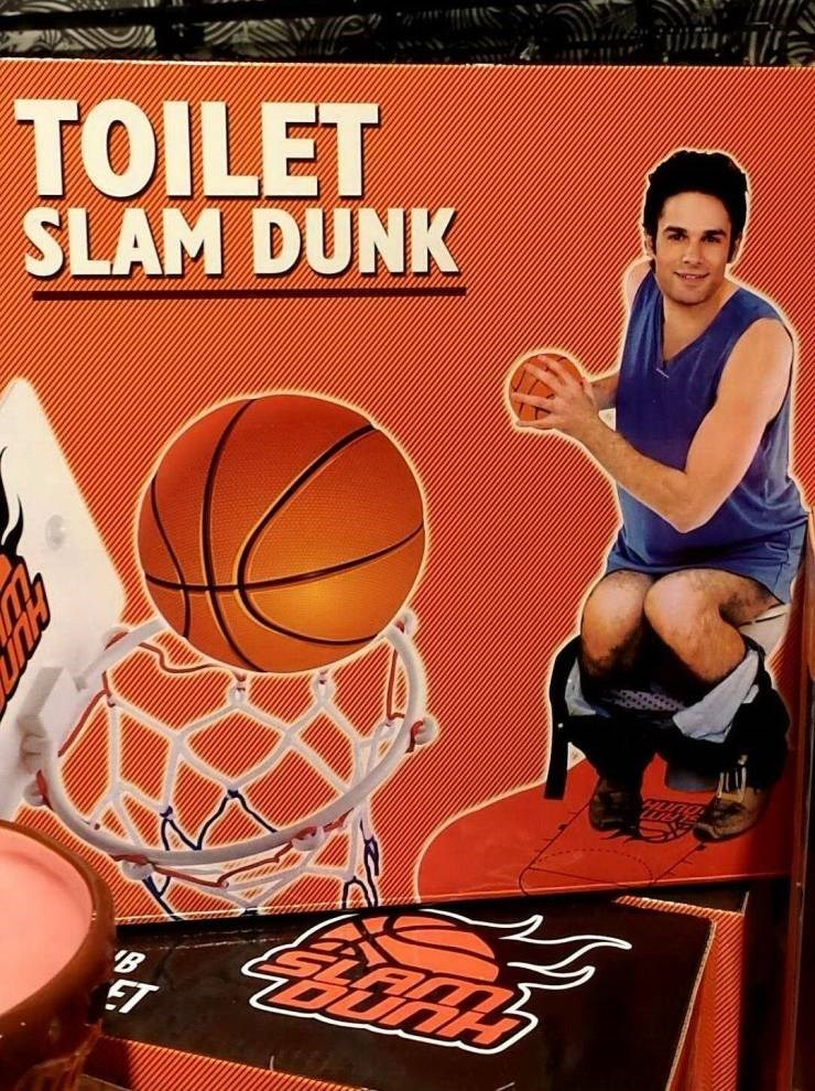 mildly interesting - Basketball - TOILET SLAM DUNK