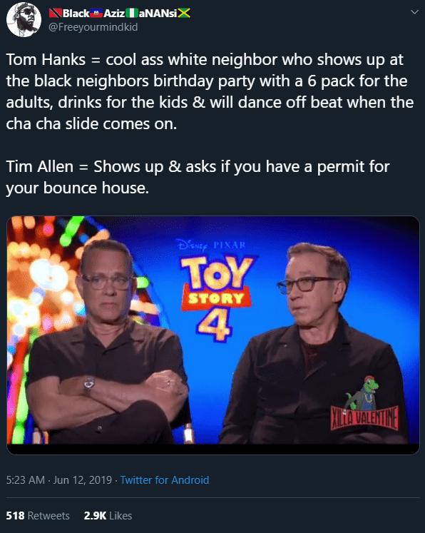 Funny Tom Hanks meme with Tim Allen