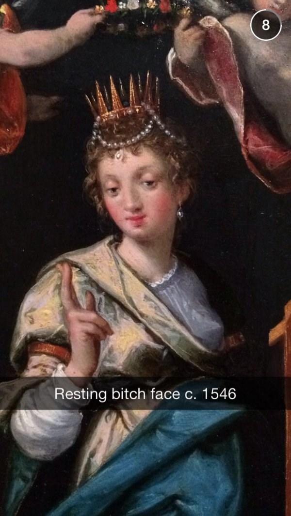 classical art meme - Lady - Resting bitch face c. 1546
