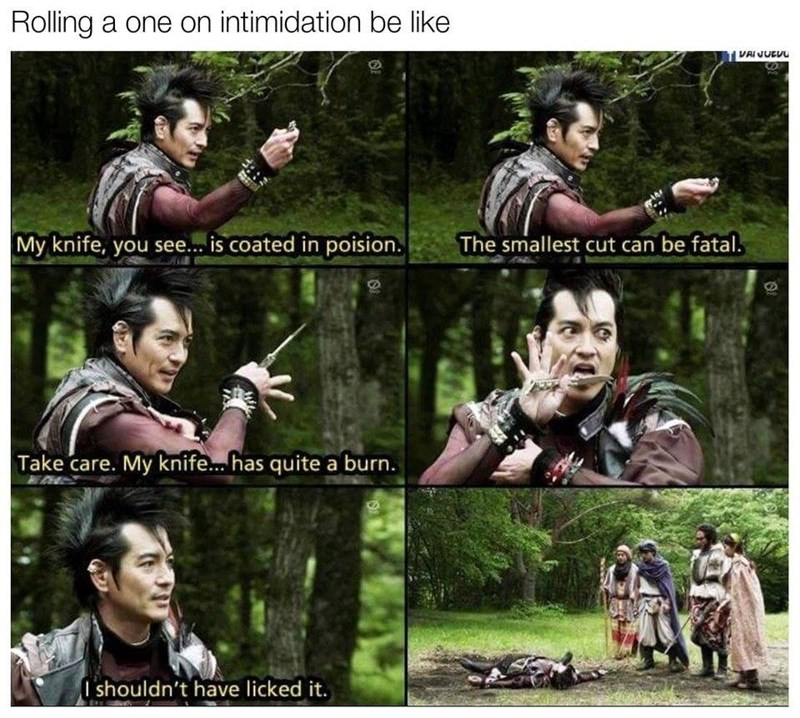 dungeons and dragons memes, intimidation.