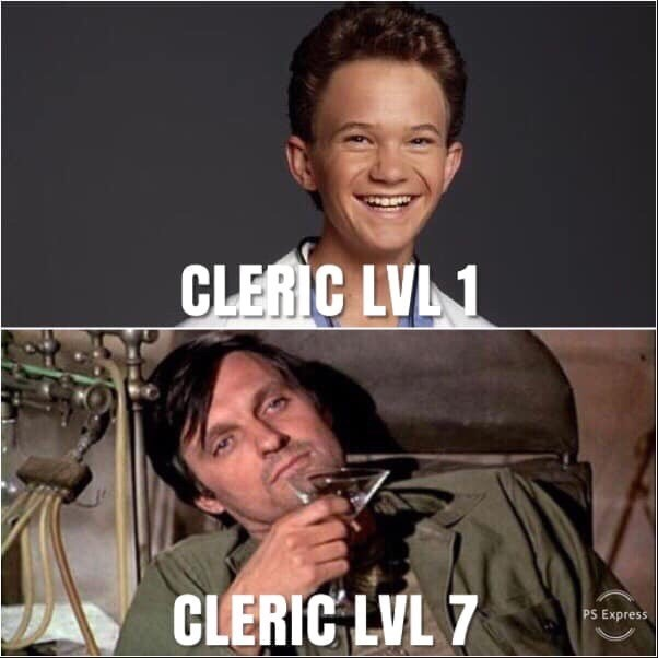 Facial expression - CLERIC LVL1 CLERIC LVL 7 PS Express