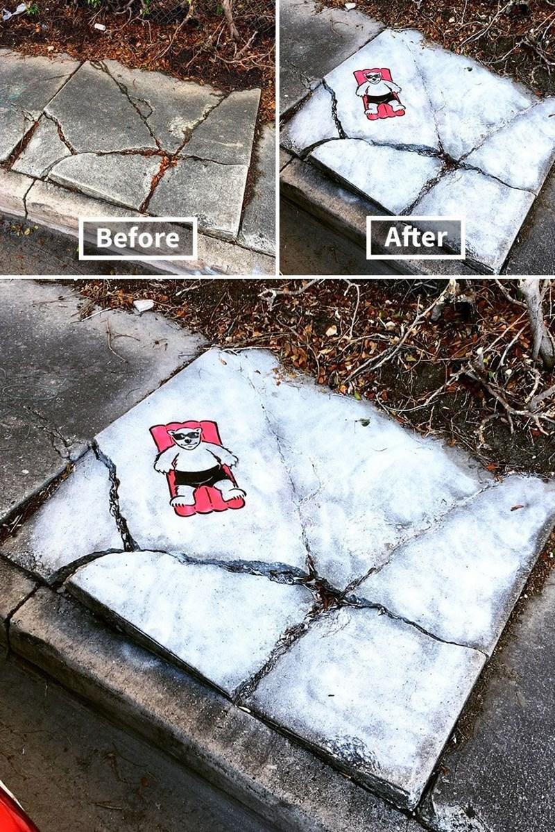 creative graffiti - Winter - After Before