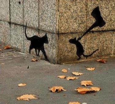 creative graffiti - Street dog