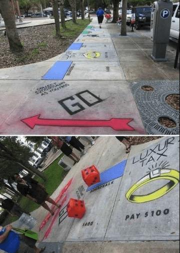 creative graffiti - Sidewalk - P AS YOURen- GO LUXUR TAX $400 PAY $100