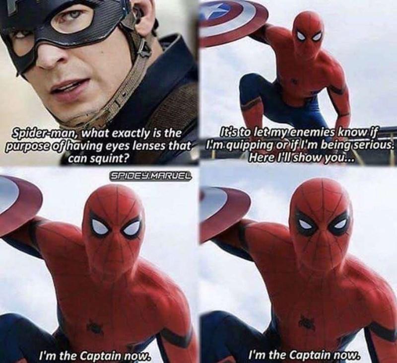 Funny Marvel meme - Captain America, Spider-Man