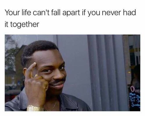 Hair - Your life can't fall apart if you never had it together Pe Man Tot-T Sunda