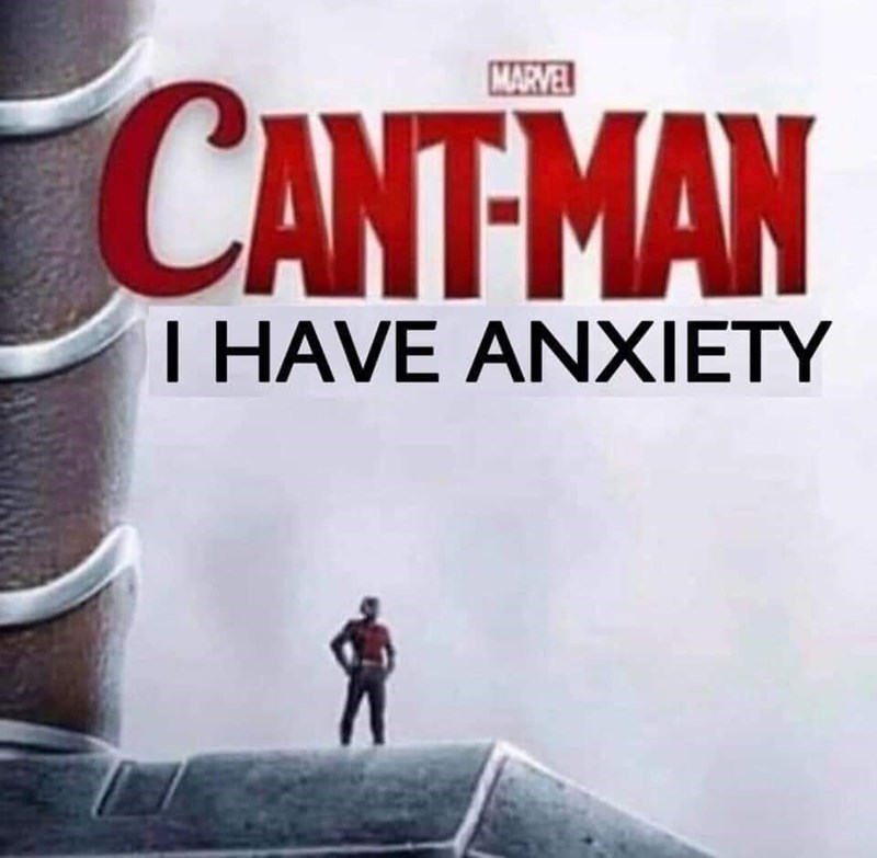 meme - Action-adventure game - MARVEL CANTMAN T HAVE ANXIETY