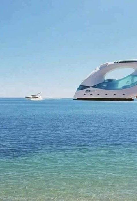 optical illusion giant clothes iron boat