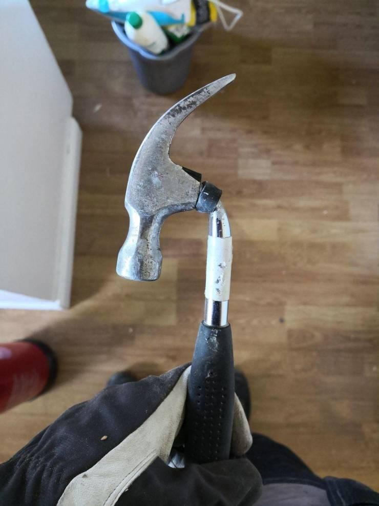 unlucky - bent out of shape hammer