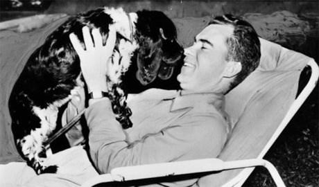 Nixon and his dog