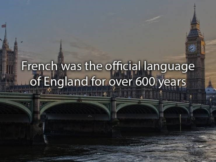 Landmark - French was the official language of England for over 600 years