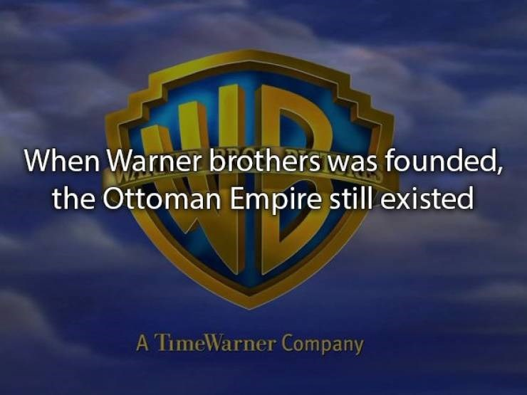 Logo - When Warner brothers was founded, the Ottoman Empire still existed A TimeWarner Company