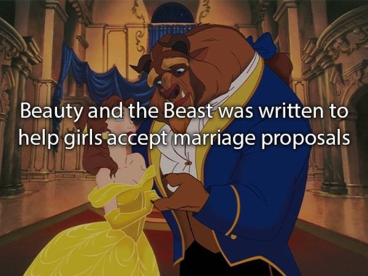 Cartoon - Beauty and the Beast was written to help girls accept marriage proposals