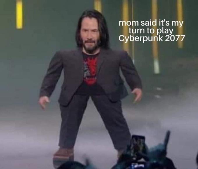 meme mini keanu - Action figure - m said it's my turn to play Cyberpunk 2077