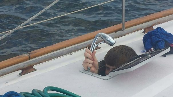 tall people problems - Water transportation