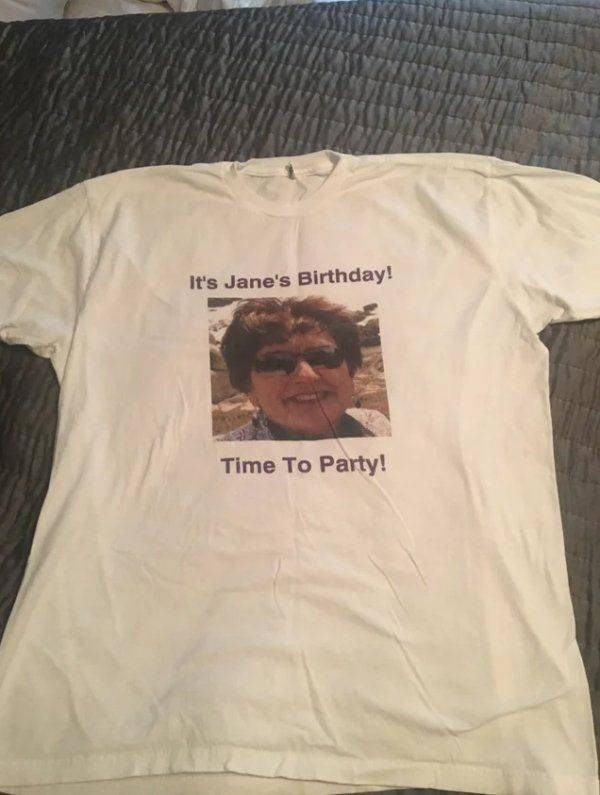 thrift shop - T-shirt - It's Jane's Birthday! Time To Party!