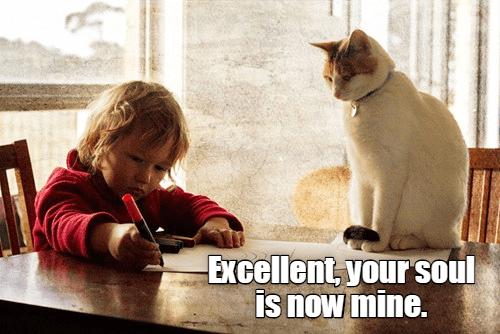 Photo caption - Excellent, your soul is now mine.