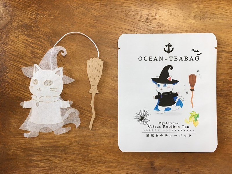 animal tea - Product - OCEAN TEABAG Mysterious Citrus Rooibos Tea 1 テリアス シトラスルイボス 猫魔女のテ ィーバッグ