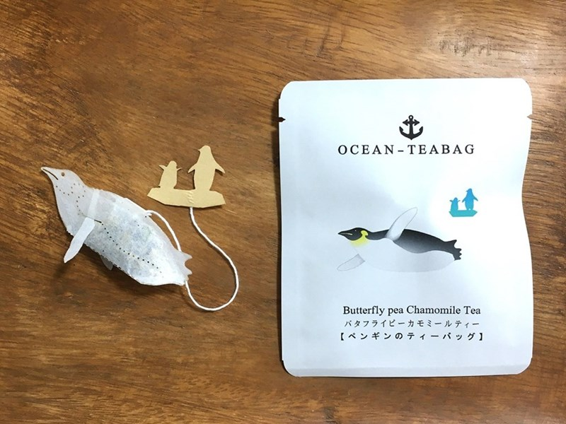 animal tea - Technology - OCEAN-TEABAG Butterfly pea Chamomile Tea バタフライピーカモミールティー 【ペンギンのティーバッグ】