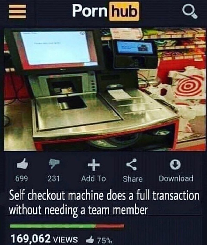 Funny meme about self-checkout